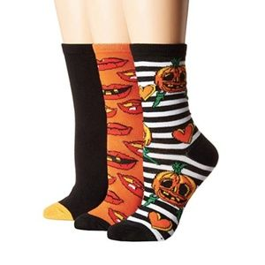 NWT Betsey Johnson 3-Pack Halloween Crew Socks